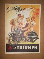 TRIUMPH NÜRNBERG MODELLE 1937 S 500 GESPANN B 200 E OLDTIMER MOTORRAD VORKRIEG