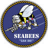 SeaBees USN United States Navy Miltary Bumper Sticker Decal Sea Bee Can Do