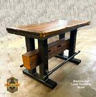 Steampunk Industrial Machine Age Lamp Table Stand Bar Pub Barnwood