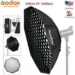 """Godox Octagon Softbox with Grid 55"""" 140cm Bowens Mount for Studio Strobe Flash"""
