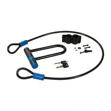 Black Strong Bike Cycle D U Shackle Lock And Cable Set