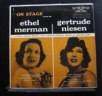 Ethel Merman - Gertrude Niesen - On Stage, Vol. 1 LP VG+ LVA-1004 Vinyl Record