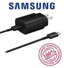 Original Samsung Super Fast Charger 25W EP-TA800 Note 10 S9 w/ USB C Cable Black
