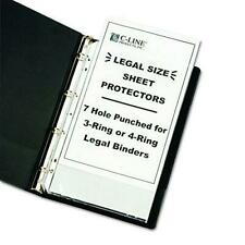 C Line Top Loading Heavyweight Poly Sheet Protectors Clear Legal Size 14 X
