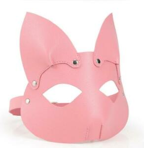 PULeather Cat Bunny Rabbit Party Mask Cosplay Costume Carnival Festival SexyMask