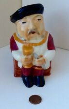 ANTIQUE STAFFORDSHIRE TOBY MUG - HENRY VIII - HAND PAINTED-MADE IN ENGLAND
