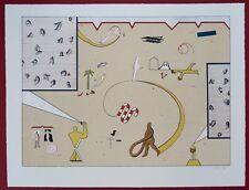 Jan Voss Farblithographie 1970 handsigniert u. datiert