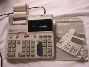 Texas Instruments TI-5045 II Desktop Printing Display Calculator 2 Color Manual