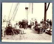 UK, Scene on board of a ship  Vintage citrate print. Vintage England Tirage ci