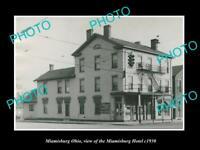 OLD LARGE HISTORIC PHOTO OF MIAMISBURG OHIO, VIEW OF THE MIAMISBURG HOTEL c1930