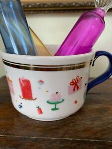 Anthropologie Mr Boddington's Studio Mug Coffee Cup Celebration Party Christmas