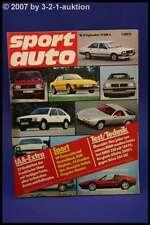 Sport Auto 9/79 IAA BMW 320 Volvo 244 GLT Alfetta