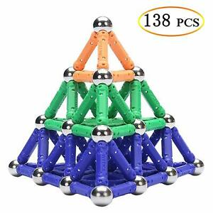 138Pcs/Set Educational Magnetic Construction Building Sticks Blocks Toy For Kids