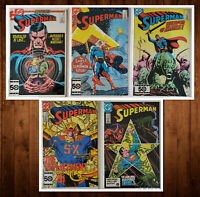 Lot of 5 Superman #415 416 417 418 419 VF+ - NM Nice Set! Will Not Last See Pics