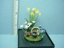 Dollhouse Miniature Outdoor Floral Vignette #7  Paula Gilhooley - 1/12th Scale
