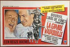 Affiche Belge LA GRANDE VADROUILLE Bourvil LOUIS DE FUNES Gérard Oury