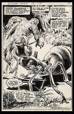 Swamp Thing #14 Original Splash Art by Nestor Redondo 1975