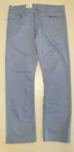 MENS LEVI'S 514 BLUE STRAIGHT LEG STRETCHED ZIP FLY DENIM JEANS UK XL W36 L32