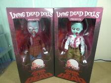 Mezco Living Dead Dolls Ldd Amanecer de los muertos FLYBODY & Camisa a Cuadros Figuras Zombie