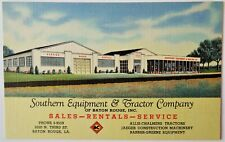 New listing Southern Equipment & Tractor Co. / Baton Rouge, LA / Linen Advertising Postcard