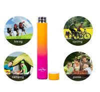 300ml Slimline Double Walled Drink Bottle Stainless Steel Sport Insulated NoBPA