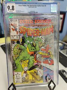 SPECTACULAR SPIDER-HAM #8 (1985 SERIES) - CGC GRADE 9.8 - FT. MECHA-HOG-ZILLA!
