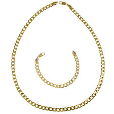 18K Gold Filled Heavy Stainless Steel Curb Cuban Link Chain Men Necklace 7mm US