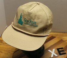 GEM STATE ACOUSTICAL & DRYWALL SUPPLY IDAHO HAT TAN SNAPBACK GOOD CONDITION XE