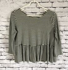 Free People We the Free Striped Cropped Peplum Top Size XS / TP