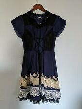 Axes Femme Cute Japanese Dress Mori Kei Girl Womens Size M Navy rose new w/o tag