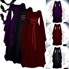 Women Gothic Witch Victorian Renaissance Medieval Maxi Long Dresses Fancy Dress