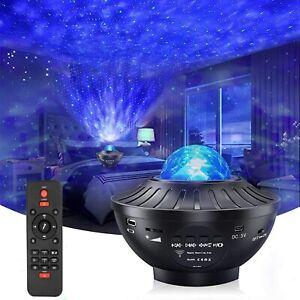 Proyector Estrella LED Luz Nocturna  con Control Remoto y Altavoz Bluetooth