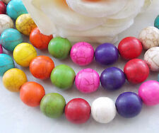 AAA 12mm Multicolor Turkey Turquoise Round Loose Beads Gems 15'' T-17