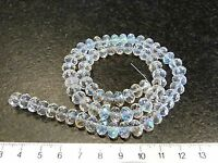 (BUY 3 GET 4) 25 AB CLEAR FACETED GLASS CRYSTAL RONDELLE BEADS 6 x 8mm 6x8mm