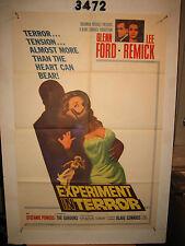 Experiment in Terror Original 1sh Movie Poster '62 Glenn Ford, Lee Remick