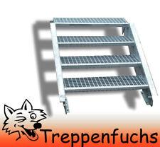 4 Stufen Stahltreppe Breite 120 cm Geschosshöhe 55-85cm inkl. Zubehör