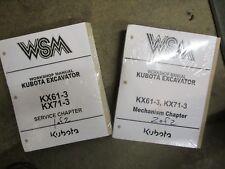 Kubota KX61 -3 KX71 -3 KX 61 71 -3 excavator service & repair manual