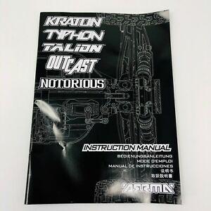 ARRMA Typhon Talion Kraton Outcast Notorious Instruction Manual V4 2019 New
