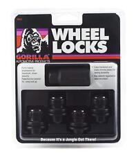 4 Pc BLACK GORILLA TOYOTA LOCKING LUG NUTS WHEEL LOCKS OEM TYPE # 73631TBC