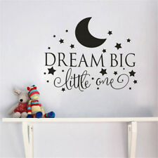 Removable Vinyl Baby Room Wall Stickers Dream Big Little One Bedroom Home Decor