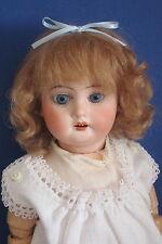 """perruque Mohair poupée ancienne-16/17cm-Fait en FRANCE-Mohair doll wig Sz6.5"""""""