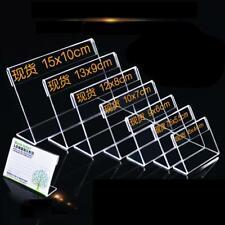Oechsle Preisschild-Halter aus Plexiglas 1 Stück 7,4 x 10,5 cm A 7
