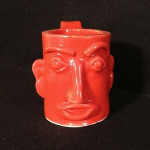 Ugly Face Jug Mug Southern Folk Art Virginia Signed Hand Made One Of A Kind RARE