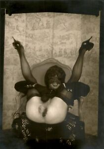 Pierre MOLINIER / Photographie originale. Photomontage « La Rose blanche »