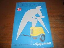 Prospekt sales brochure Jenbach diesel compresor construcción de carreteras construcción автомобиль