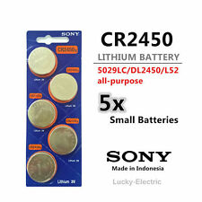 5pcs Sony CR2450 Battery Lithium Cell Button Batteries Blister Pack frm Melb