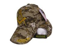 Mason Masonic Freemason Symbol ACU Camo Camouflage Embroidered Cap Hat (RUF)