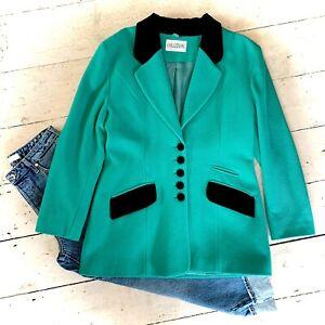 Vintage Retro 1980's Power Dressing Wool/Cashmere Designer Blazer Size 14