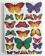 Wall Picture Plaque , Vintage Retro style Handmade / Butterflies L / Decoupage