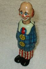 DISTLER OCCUPIED GERMAN CLOWN OPENING EYES W KEY 1940'S TIN LITHO WIND UP WORKS!